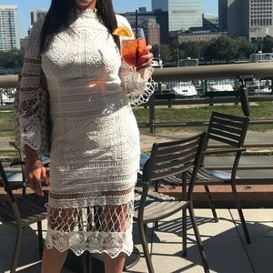 Dresses & Skirts - White crochet dress